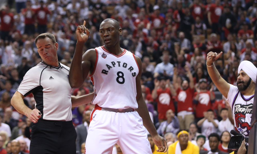 Biyombo Gives Finger Wag To Media Bulls And Other Shootaround